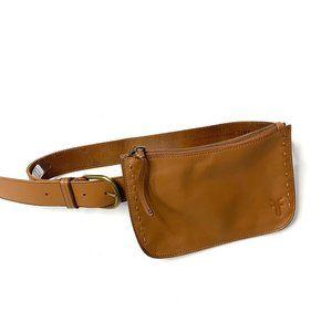 NWT Frye Cognac Tan Leather Fanny Pack Belt Clutch